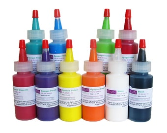 Resin Obsession opaque color pigments for coloring epoxy resin - complete set of 10