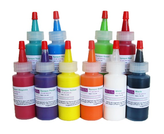 Resin Obsession opaque color pigments for coloring epoxy resin ...