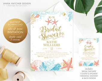 Beach bridal shower Etsy