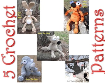 All 5 Back to Basic Crochet Patterns by Erin Scull