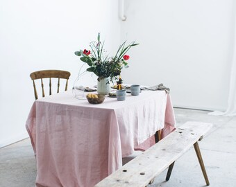 Washed linen tablecloth/ Soft linen tablecloth/ Table linens/ Natural linen tablecloth/ Flax tablecloth/ #003