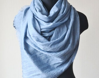 cotton scarf clothing gift pashmina scarf boho gifts|for|mom scarf shawl blue scarf fashion scarf handmade scarf boho scarf soft scarf