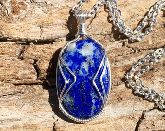 Lapis Lazuli Necklace  for Intuition, Awareness, and Empowerment - Third Eye Chakra Stone