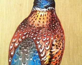 Pheasant. Hand painted pheasant. Nice gift for hunter.