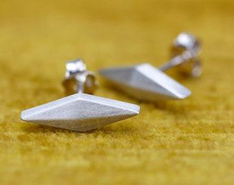 geometric earrings, lozenge earrings, trapezoid earrings, everyday earrings, rhomboid earrings, rumble studs