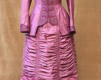 Victorian dress- 1880 day dress-walking dress