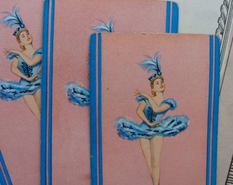 Antique Pink Ballet Very French Ballerina Dancer Trade Playing Cards