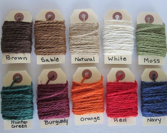 """5 yards Colored Jute Twine """"Your Color Choice"""""""