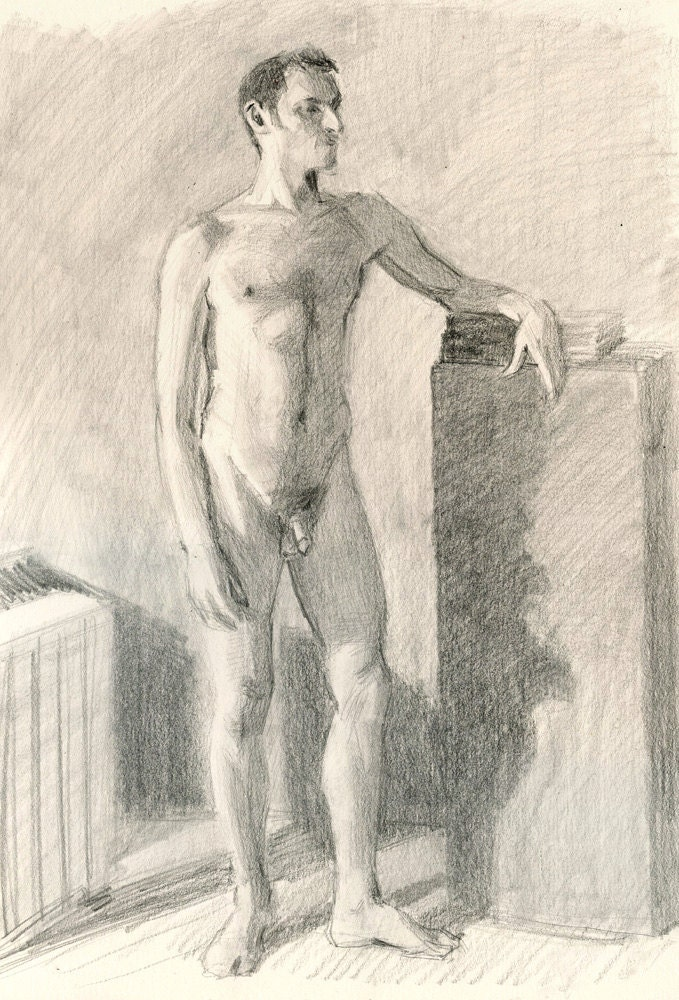 older wonen naked sketch