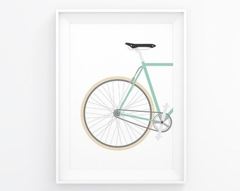 Bicycle Gift, Bicycle Decorations, Bike Decor, Travel Prints, Cycling Gifts, Bike Wall Art, Printable Poster, Bike Gift, Bicycle Decal