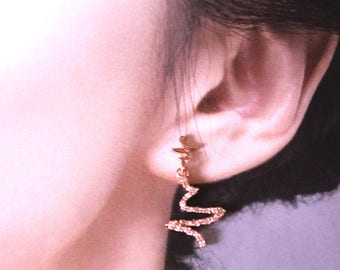 cute Telepathy earring 925 silver post