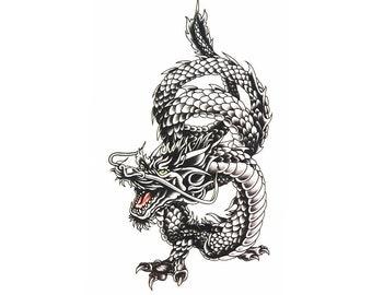 1pc dragon print temporary tattoo sticker-10508
