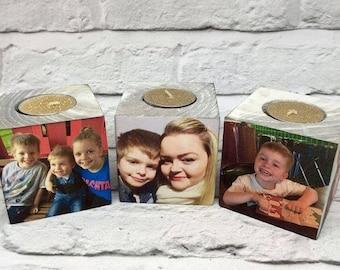 Cosy Tealight Photo Blocks