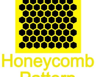 Honeycomb Stencil, Cookie, Honey, Bee, Hive, Pattern