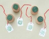 Rubber Stamps Stars mini   eco rubber stamp   Set of 4 christmas stars  STUDIO KARAMELO
