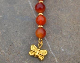 Carnelian pendant, Carnelian necklace, Butterfly pendant, Carnelian pendant necklace, Carnelian necklace beaded, Butterfly necklace pendant.