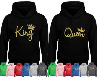 Couples sweaters King and Queen sweatshirts king and queen hoodies king and queen couple sweatshirts anniversary gift sweatshirt Ao8Wmd0v