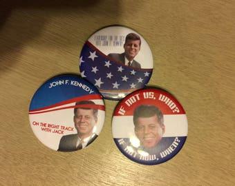 JFK Campaign Button