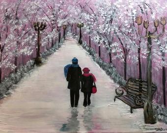 Winters Glow, an Original Oil on 24x18x1 canvas