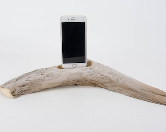 Docking Station for iPhone, iPhone dock, iPhone Charger, iPhone Charging Station, iPhone driftwood dock, wood iPhone dock/ Driftwood-No.1016