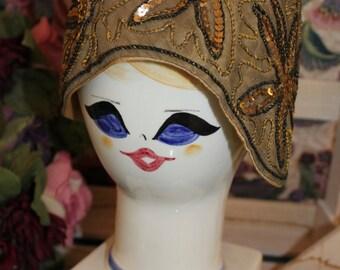1920s Sequin Cloche Hat