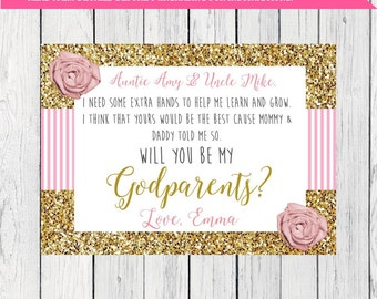 Godparent invite Etsy