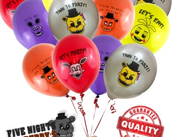 20 Five Nights at Freddys Balloons / FNAF Brithday Party Balloons / Five Nights at Freddy's Party Supplies / Decorations / Photo Booth