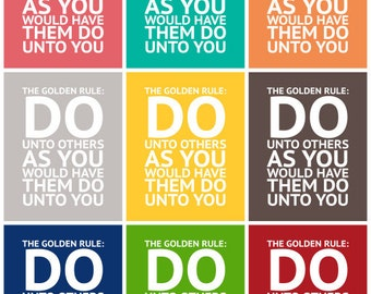 The Golden Rule - Subway Art - Instant Download