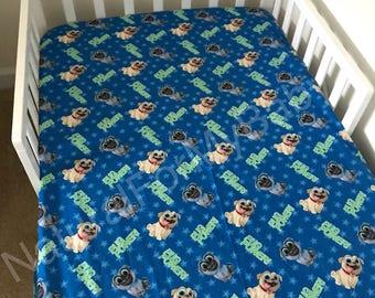 Cotton Puppy Dog Pals Sheet Fitted Flat Sheet Dogs Nursery Boy
