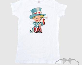 """Uncle Sam Shirt - Women's July 4th """"Patriotic Princess"""" T Shirt Adult Size S M L Xl 2Xl"""