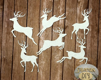 "Laser Cut Chipboard Set ""Reindeer"""