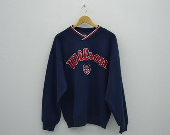 Wilson Sweatshirt  Vintage Wilson Big Logo 90s Wilson Pullover Made in Japan Mens Size L