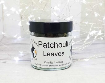 Patchouli Loose Leaf/ Incense Ingredient 60ml Jar to be burnt on its own or for use in your own blends