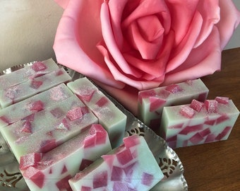 Crisp Apple Rose - apple soap - rose soap - Granny Smith soap - goat milk soap - creamy soap - gift for her