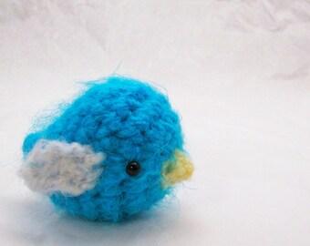 Sweet Little Baby Bird - Blue