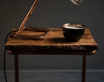 Copper and Wood C-Table