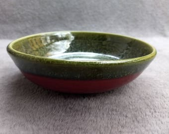 Rasperry and Moss Ceramic Bowl