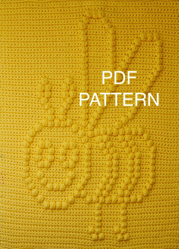 Busy Buzzy Bee Blanket  Pattern - Wall Hanging  - Baby Snuggle Blanket - Car Seat Blanket