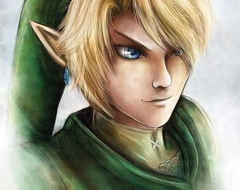 Link Legend of Zelda Glossy Poster Print - Free USA Shipping