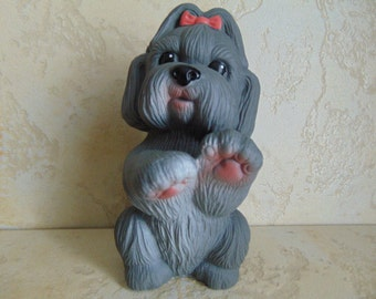Rubber toy,dog, Russia,USSR. Whistle.