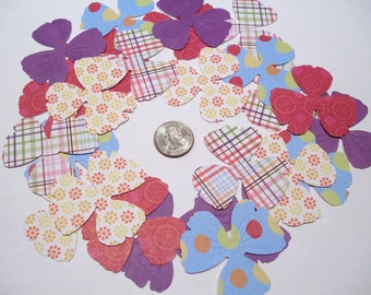 25 PANSEY FLOWERS EMBOSSED Punches for Card Making Scrapbooking Embellishments Punchies or Confetti