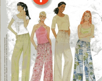 McCall's 1 HOUR PULL-On PANTS Pattern 2101 Misses Size Medium 12-14