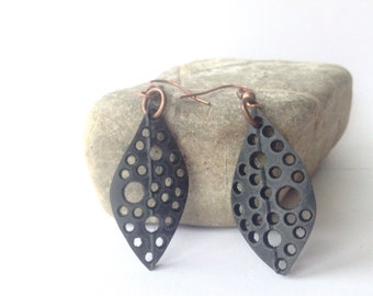 Upcycled Inner Tube Earrings, Recycled Bike Inner Tubes, Eco-Friendly, Vegan Leather, Ready to Ship, Mothers Day gift