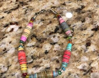 Paper beaded bracelets