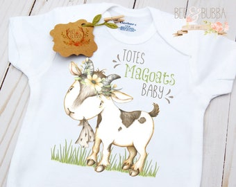 Goat Onesie ®, Totes MaGoats Baby, Boho Onesie, Cute Baby Clothes, Funny Baby Shirt, Girls Baby Shower Gift, Baby Gift, Totes Magotes