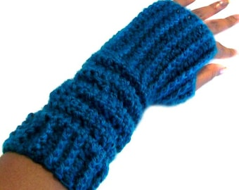 Slouchable Fingerless Gloves - PDF Crochet Pattern - Instant Download
