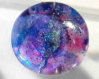 Mothers day, Marbled glass earrings, space earrings, galaxy jewelry, blue glitter earrings, blue glass studs, gift for her, purple jewelry