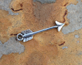 2 Antique Silver Arrow Charm  - 24 x 5.7mm  Nunn Designs LOW SHIPPING