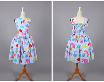 """Madeline Dress """"Party Animals"""" in Balloon Animal Print"""