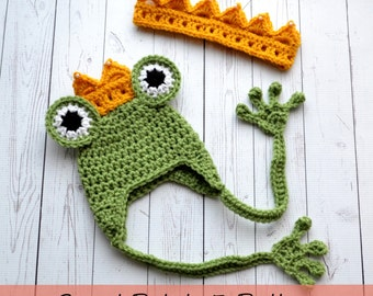 PATTERN Princess and the Frog Hat and Crown Set - Crochet